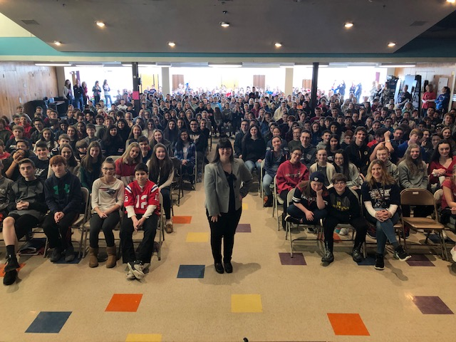 Speaking at A.W. Coolidge School, Reading MA