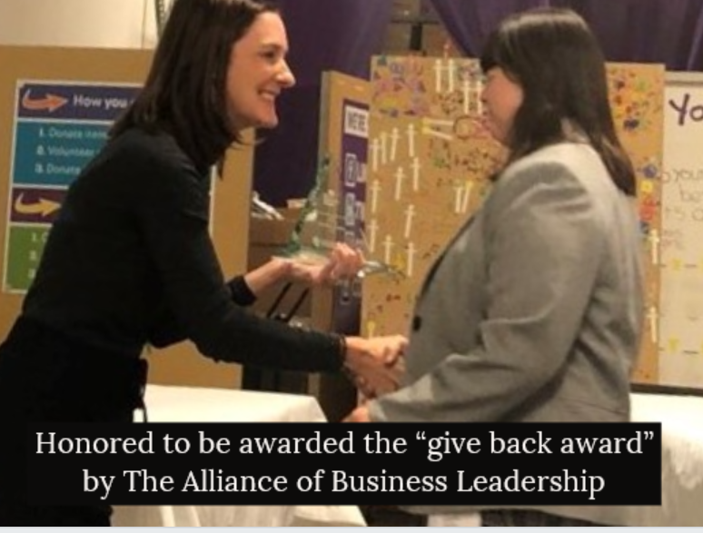 Attending ABL Business Alliance Give Back Awards